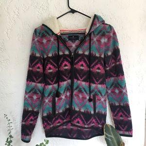 Cozy American Eagle Fleece Zip Up